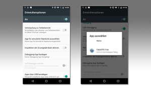 Android Entwickleroptionen