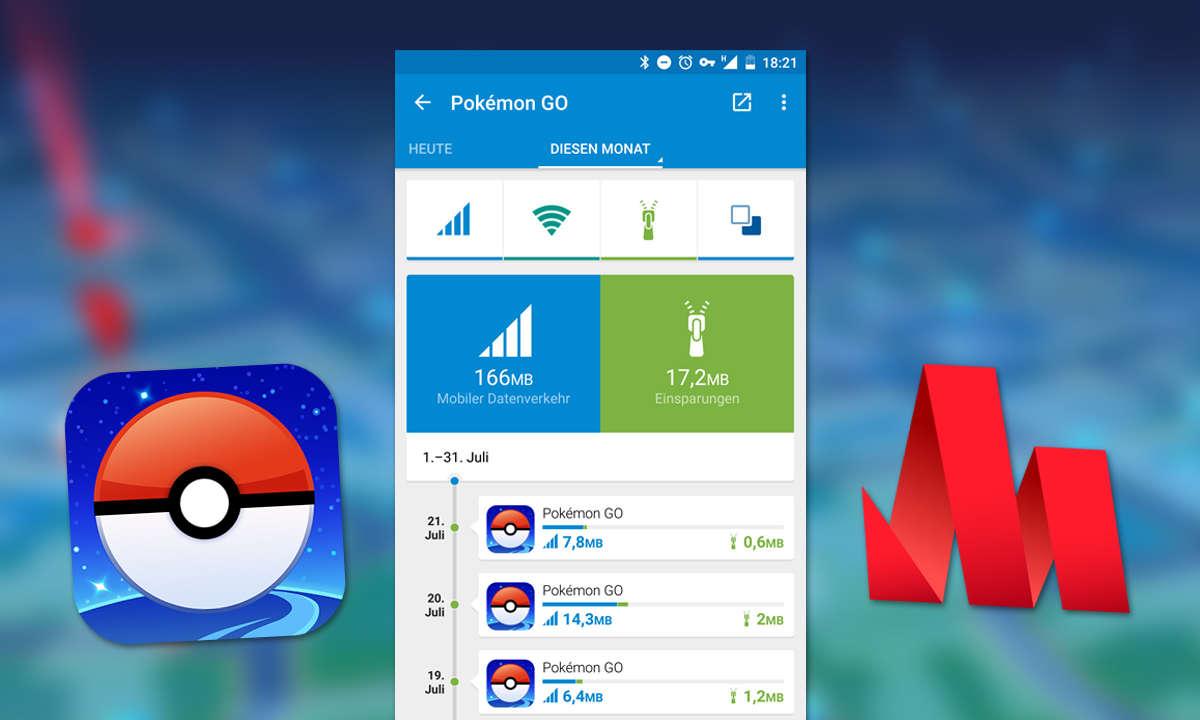 Pokémon GO Datenvolumen - Datenverbrauch