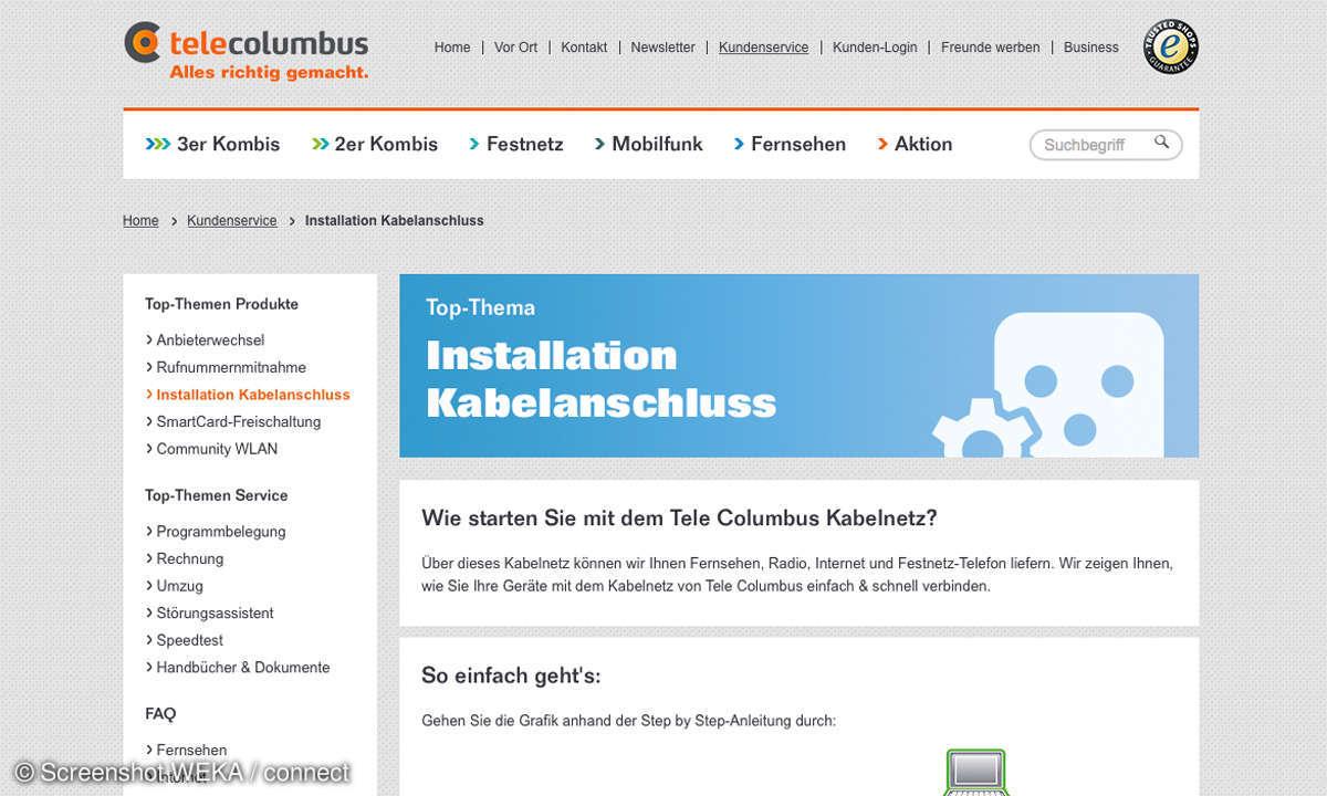 Tele Columbus Online Tipps