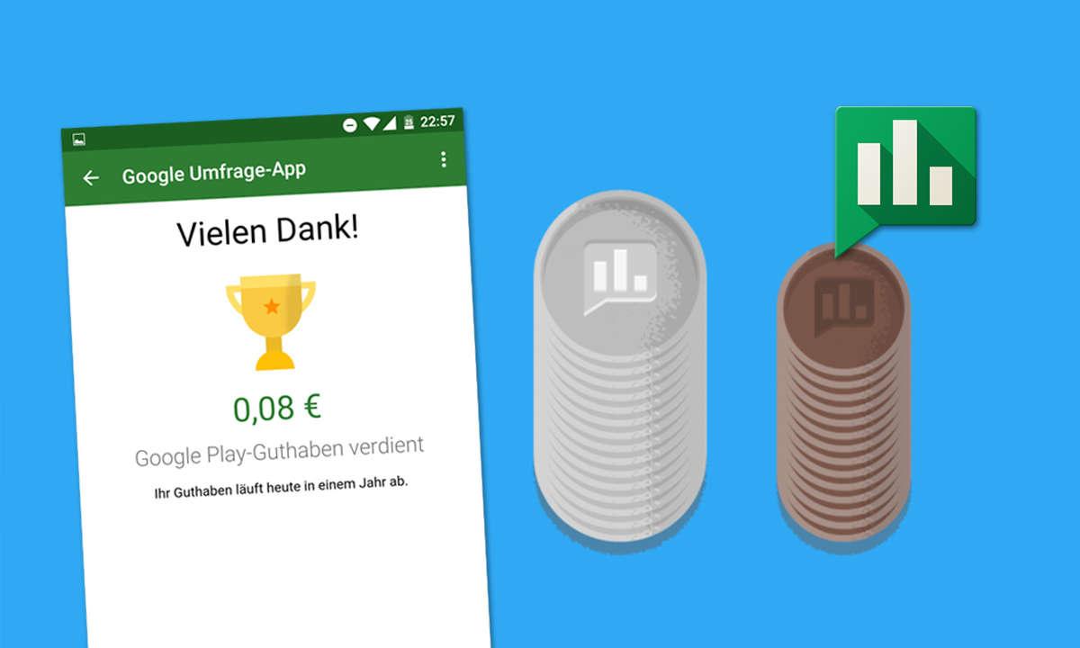 Google Umfrage-App Geld verdienen