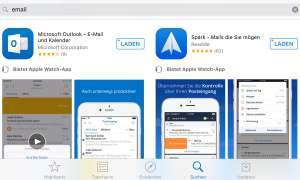 E-Mail Mail Apps Programme iTunes App Store Outlook Spark