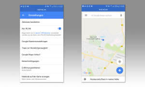 Google Maps WLAN-Modus