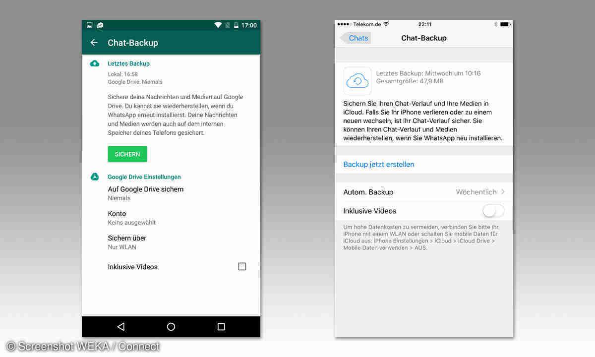 Whatsapp So behalten Sie Ihre Chat Backups auf Google Drive   connect