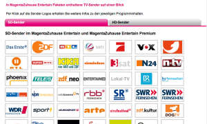 Telekom Entertain Senderliste