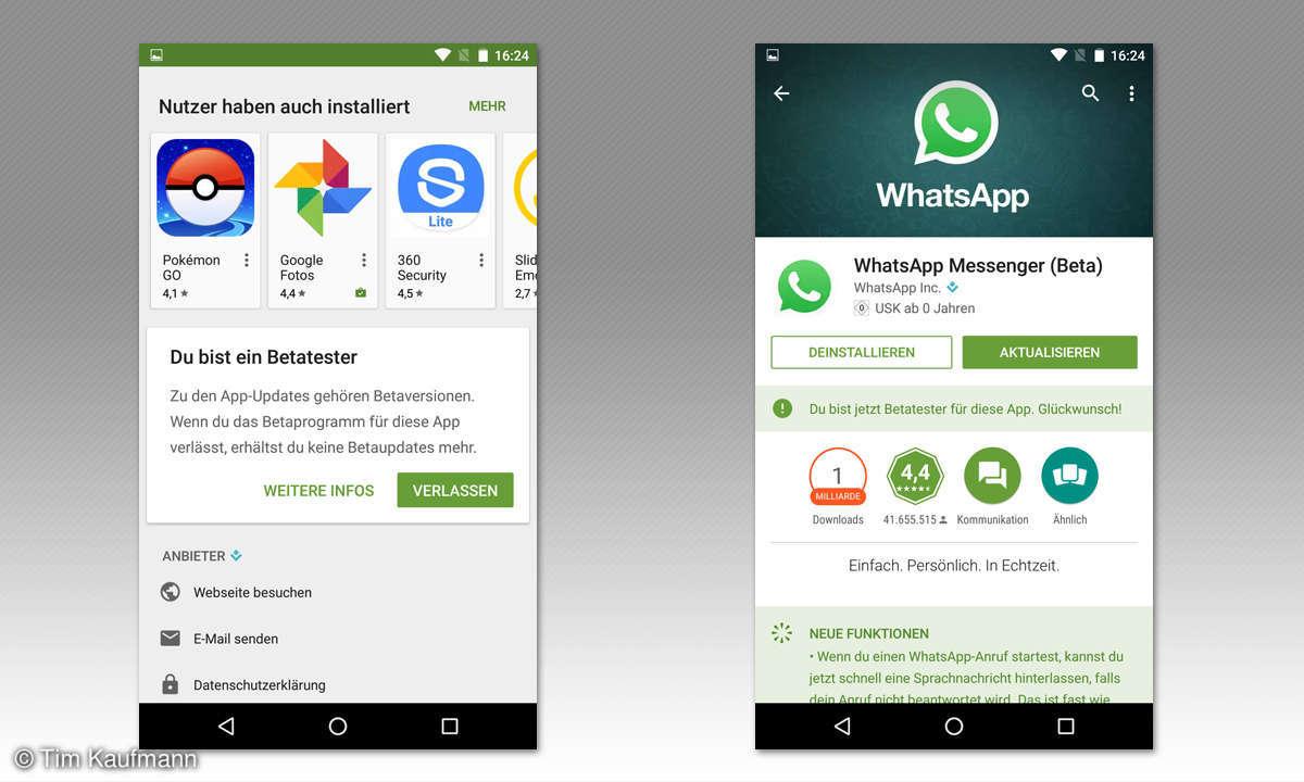 Screenshot: Whatsapp