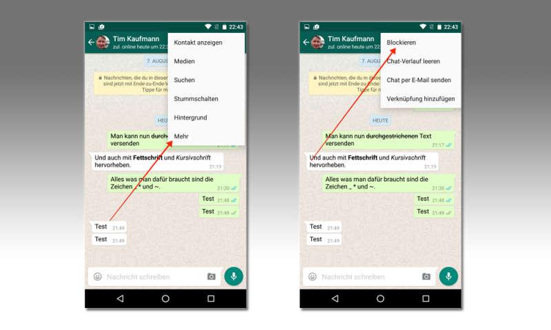 Whatsapp geblockt profilbild