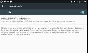 Screenshot: Datensparmodus