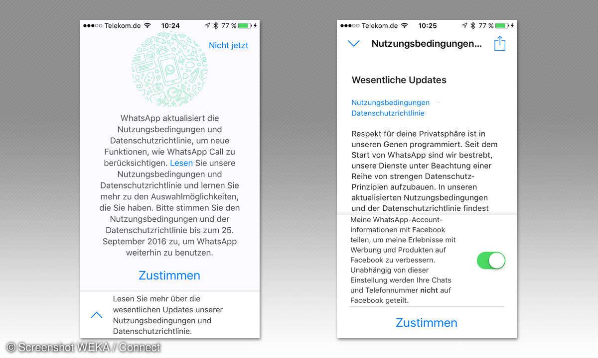 WhatsApp Facebook Datenschutz