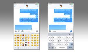 iOS 10 Bildschirmtastatur