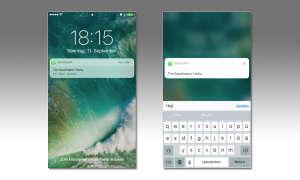 iOS 10 Sperrbildschirm-Benachrichtigungen