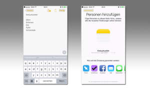 iOS 10 Notizen-App