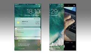 iOS 10 Sperrbildschirm