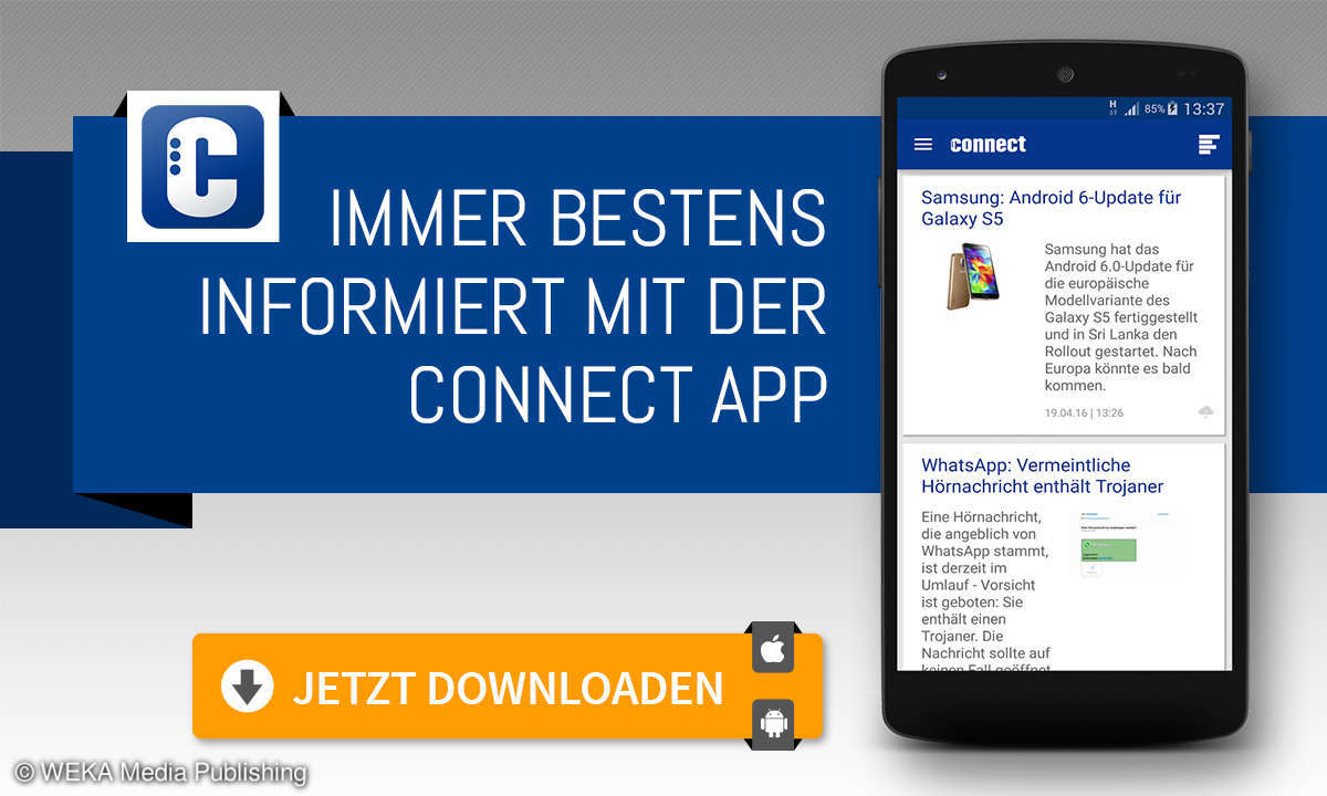 connect-app für das Smartphone!
