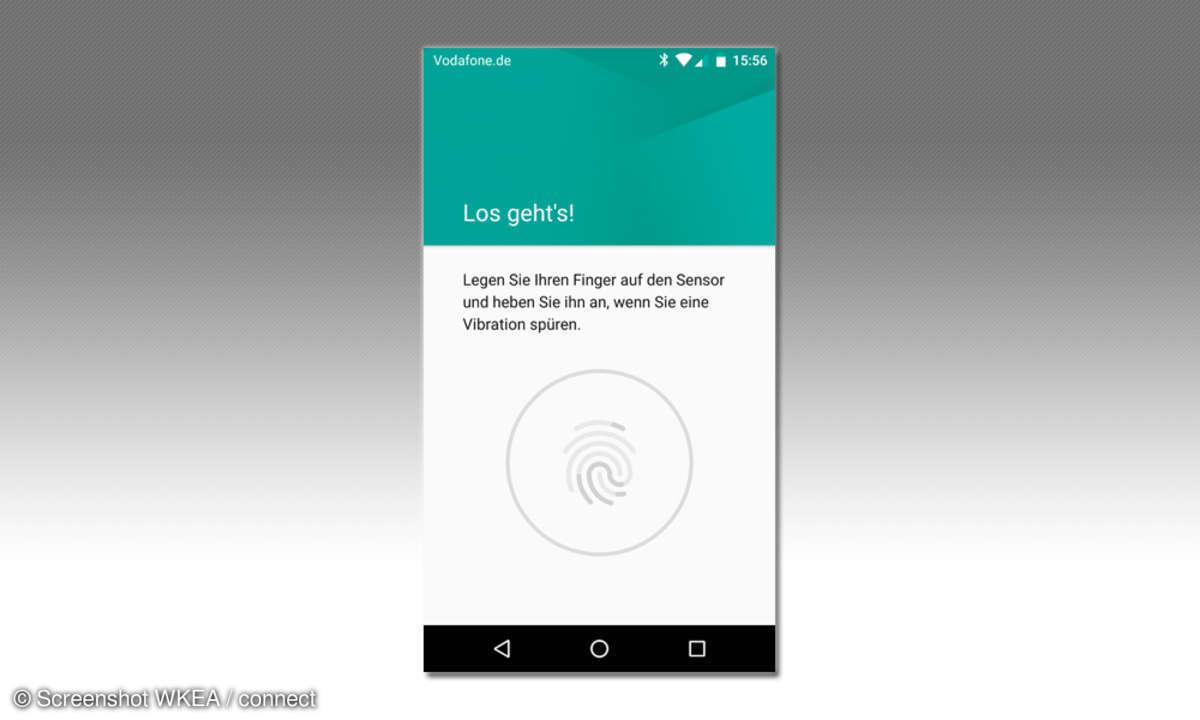 Vodafone Smart PLatinum 7 Fingerprintsensor