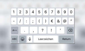 Zahlen Tastatur Ziffern iOS iPhone iPad