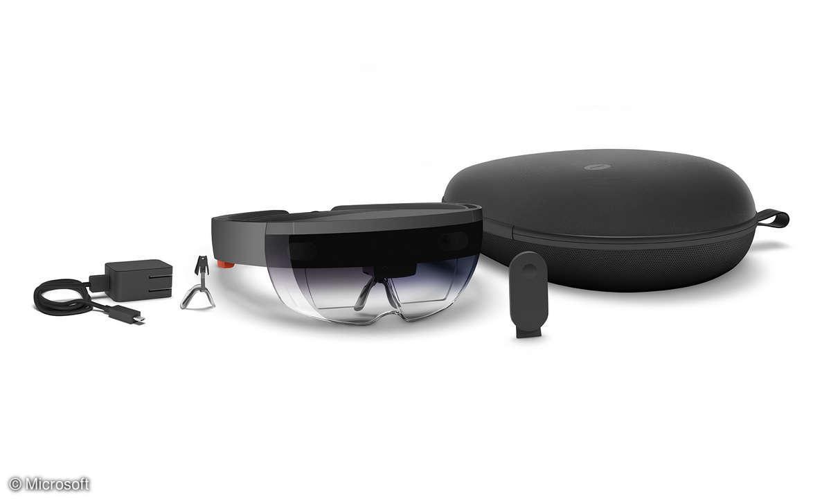 Microsoft HoloLens mit Zubehör