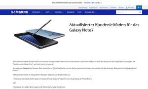 Galaxy Note 7 Rueckruf Deutschland