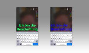 Snapchat Textfarbe