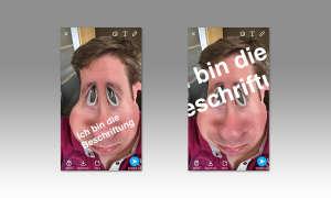 Snapchat Schriftgröße