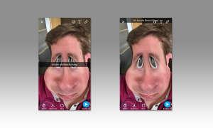 Snapchat Text verschieben