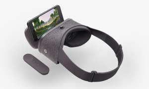 Google VR-Brille Daydream View mit Smartphone und Fernbedienung