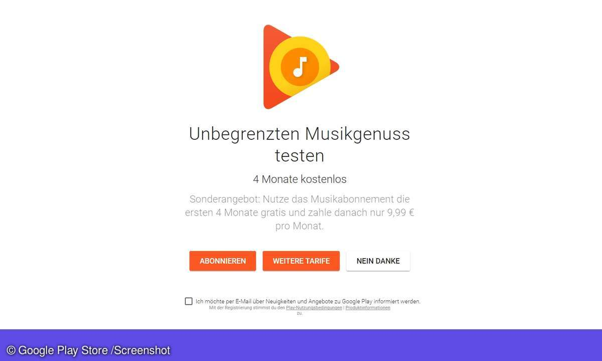 Cyber-Deal bei Google Play Music