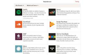 Sonos Streaming-Dienste