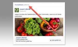 Eigenen Namen aus Facebook-Werbung entfernen