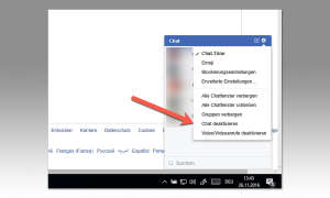 Facebook Onlin-Status verstecken