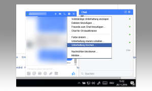 Facebook Chats löschen