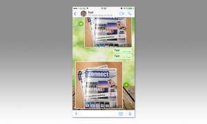 Fotos, Textausschnitte etc. über den Messenger weiterleiten