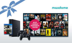 PlayStation 4  und 1 Monat maxdome Paket kostenlos testen