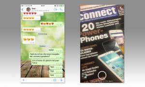 Fotos über den Messenger machen