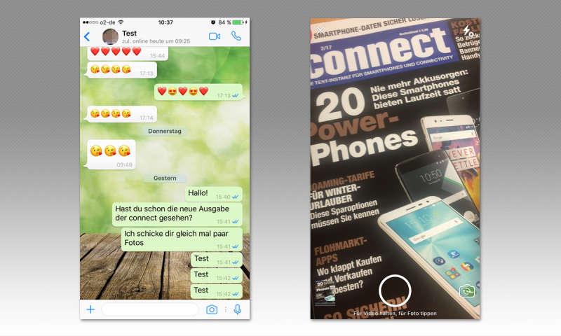Mehrere Fotos über Whatsapp Machen Und Versenden Connect