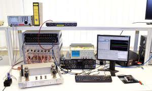 Testlab Messplatz Verstärker