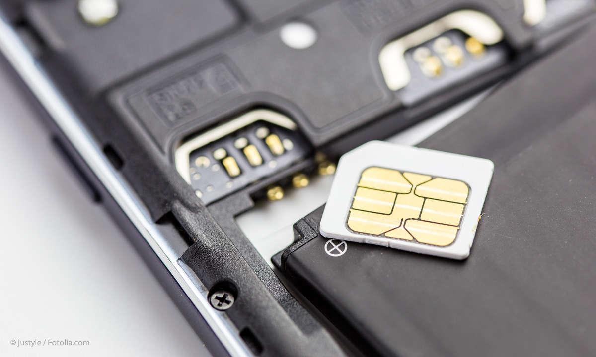 Smartphone mit SIM-Karte