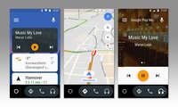 Screenshots Android Auto