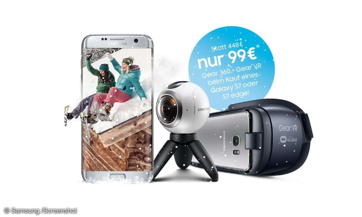 Samsung-Angebot: Galaxy S7 (Edge) +  Gear VR und Gear 360