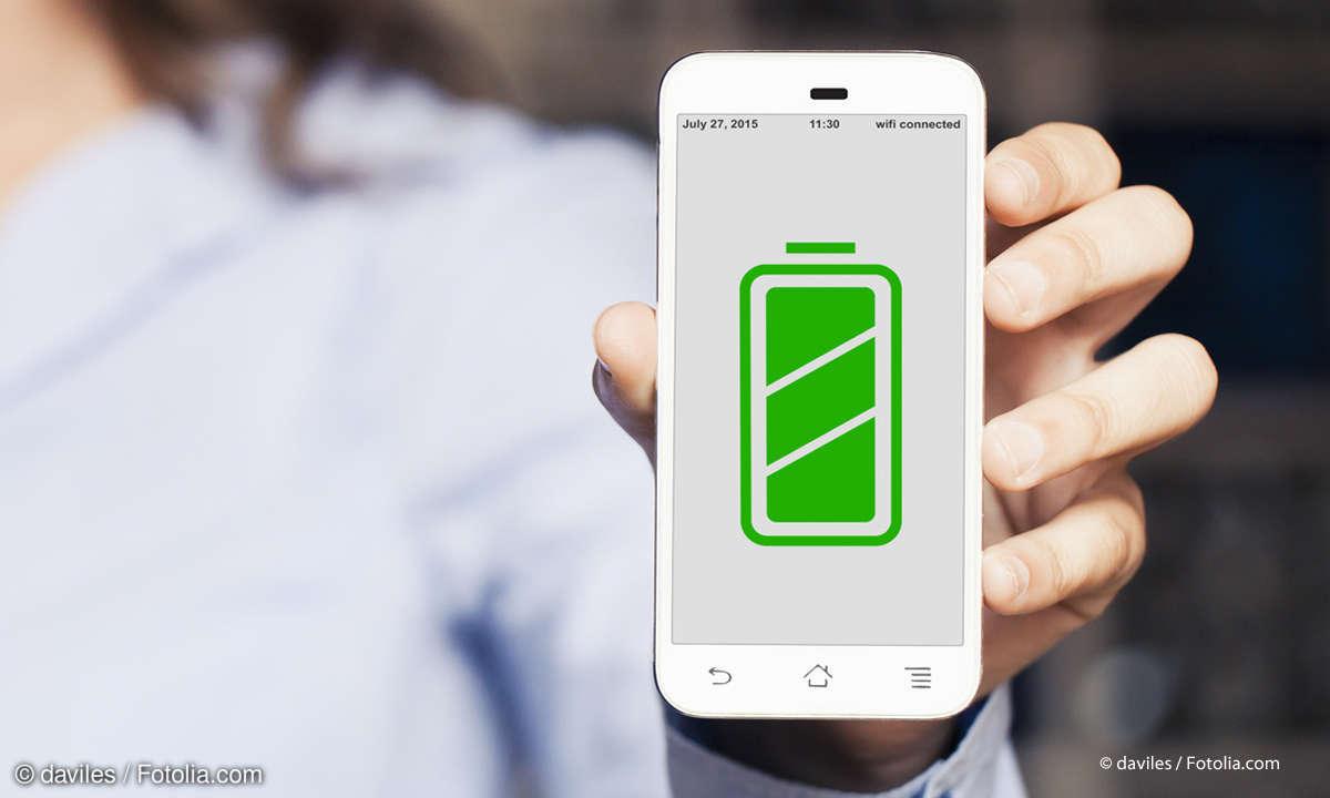 Smartphone mit vollem Akku