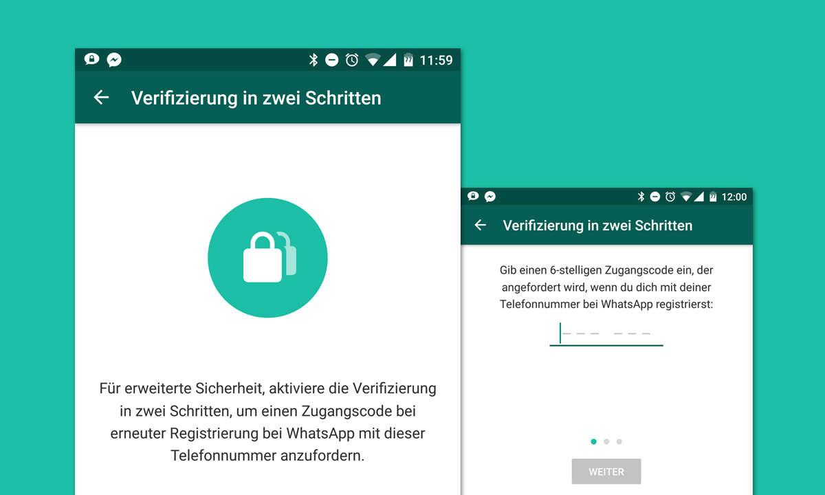 Whatsapp 2-Faktor-Authentifizierung