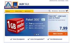 Aldi-Talk-Paket 300 jetzt mit 1GB Datenvolumen