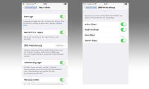 SMS-Weiterleitung aktivieren