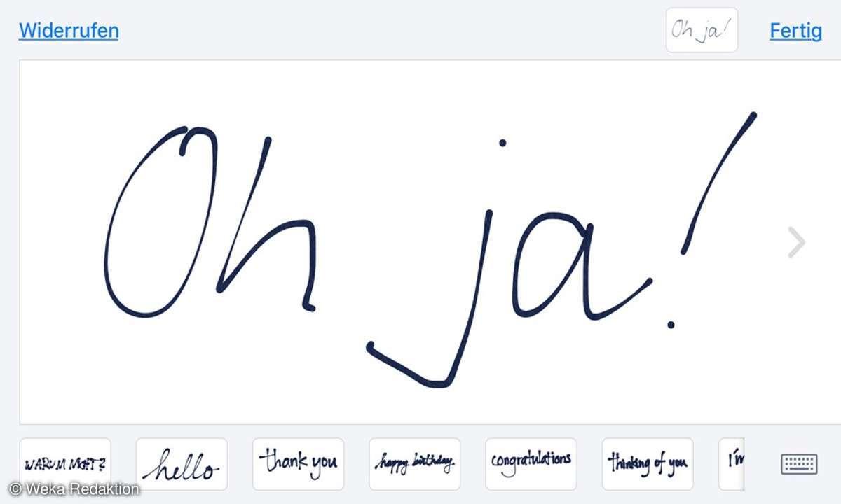 Handgeschriebene Nachrichten