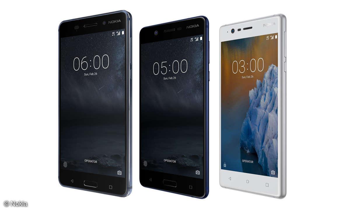 Nokia 6, Nokia 5 und Nokia 3