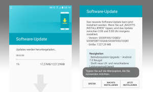 Android  7 Update auf Galaxy S7 (Edge)