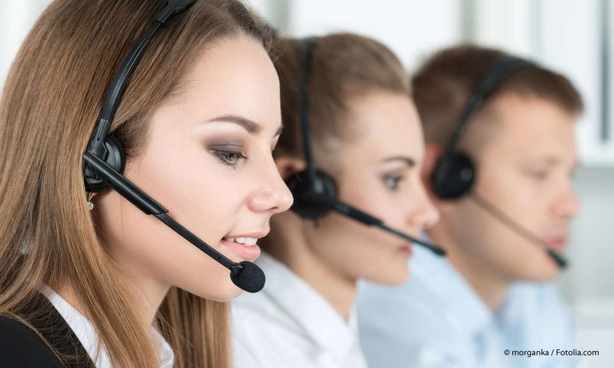 Kundenberater im Callcenter