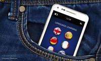 Smartphone mit Sprachlern-App