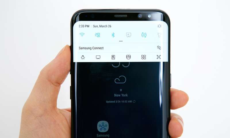 samsung galaxy s8 ist erstes smartphone mit bluetooth 5. Black Bedroom Furniture Sets. Home Design Ideas