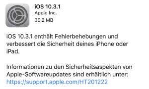 Apple Update Betriebssystem