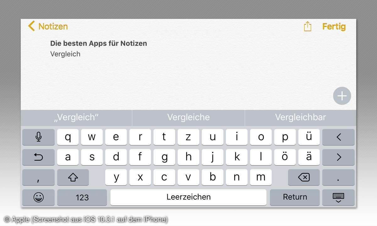 Apple iPhone Notes Notiz App